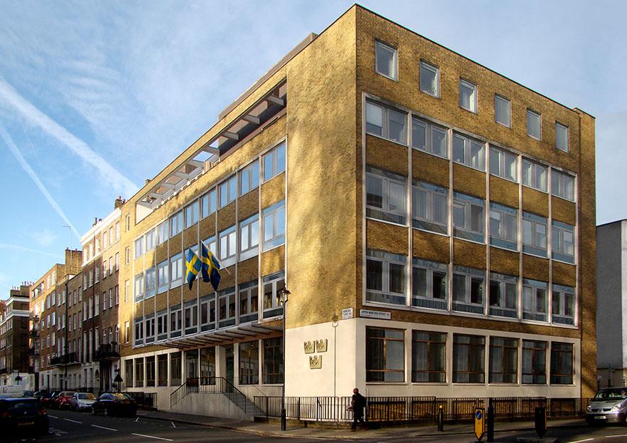Foto på Svenska ambassaden i London
